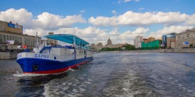 Тайлапс Москвы реки