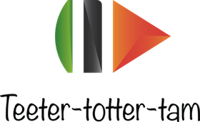 Логотим teeter-totter-tam animation на светлом фоне (название снизу)