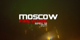 Firework timelapse in Moscow