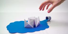Stop-motion Бумажный пароходик