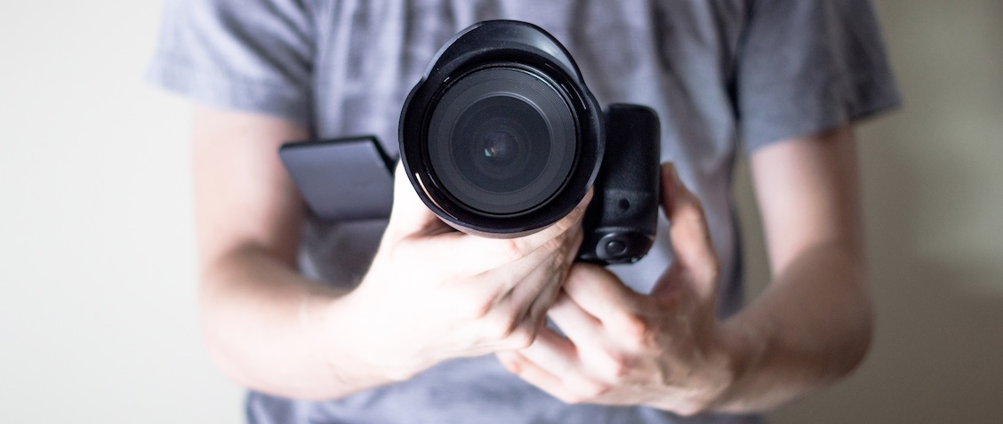 Камера в руках